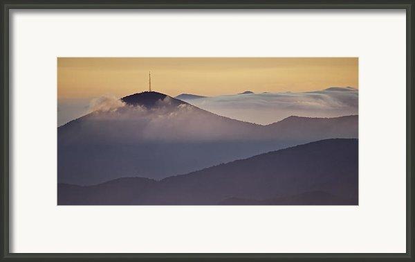 Mount Pisgah In Morning Light - Blue Ridge Mountains Framed Print By Rob Travis