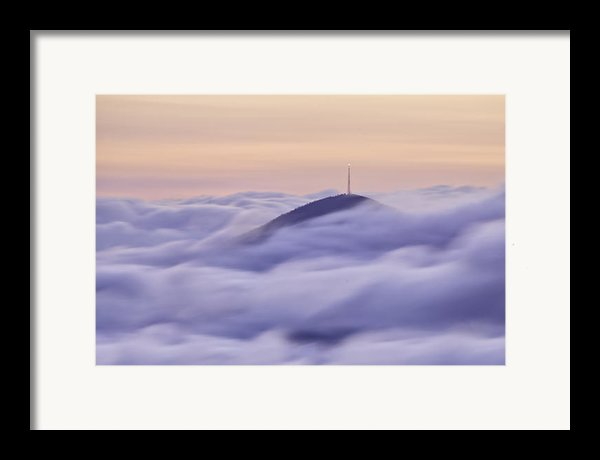Mount Pisgah In The Clouds Framed Print By Rob Travis