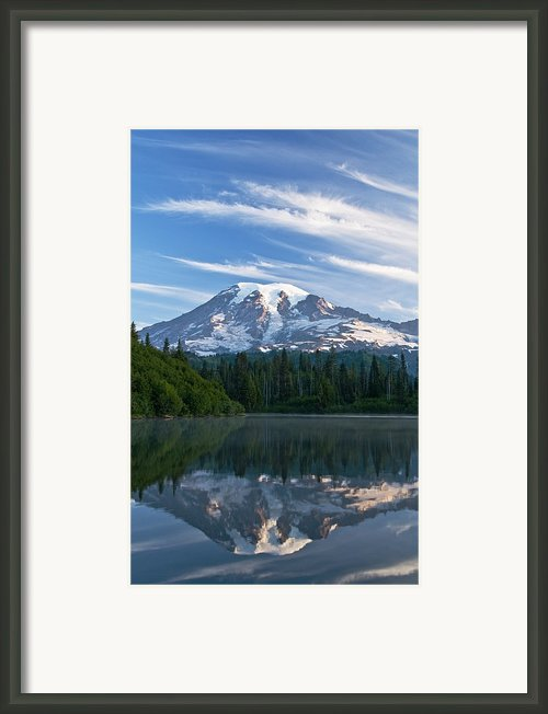 Mount Rainier Reflections Framed Print By Greg Vaughn - Printscapes
