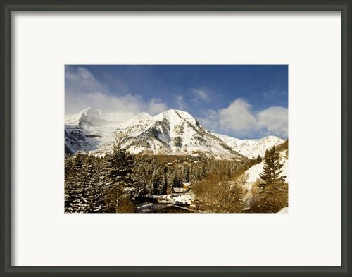 Mount Timpanogos Framed Print By Scott Pellegrin