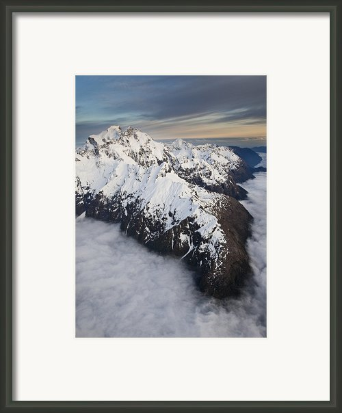 Mount Tutoko At Dawn In Fiordland Np Framed Print By Colin Monteath