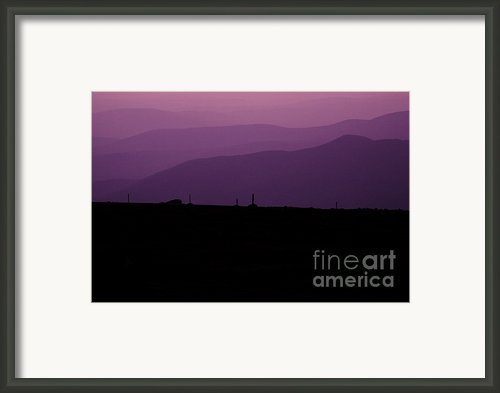 Mount Washington New Hampshire - Auto Road Framed Print By Erin Paul Donovan