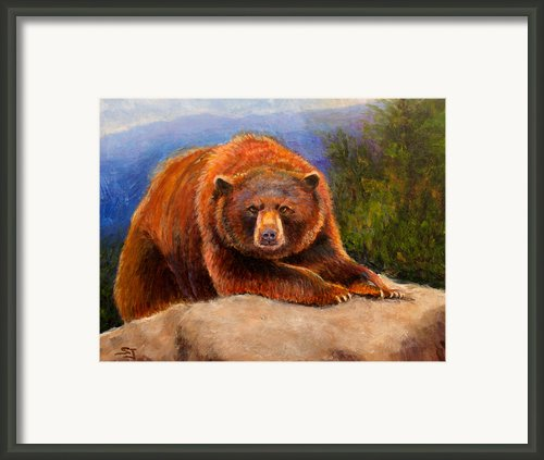 Mountain Bear Framed Print By Susan Jenkins