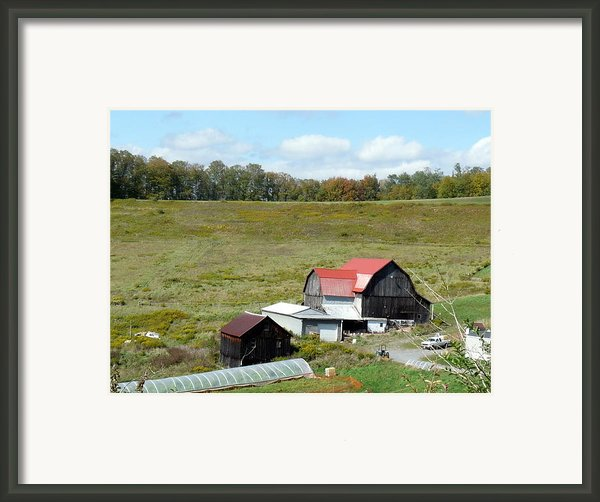 Mountain Farm Framed Print By John Turner