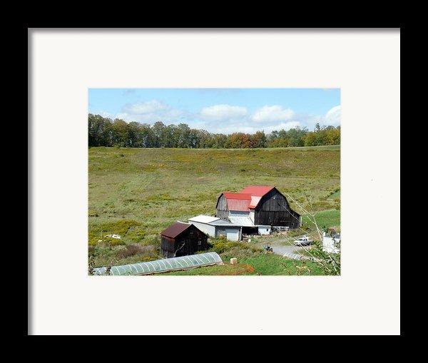 Mountain Farm Framed Print By John Turner