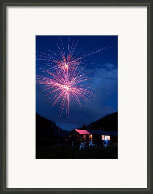 Mountain Fireworks Landscape Framed Print By James Bo Insogna