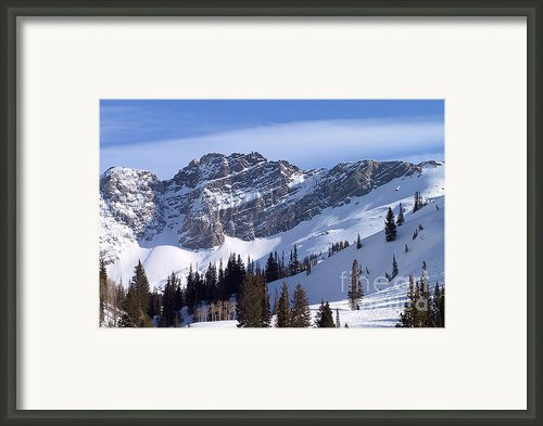 Mountain High - Salt Lake Ut Framed Print By Christine Till
