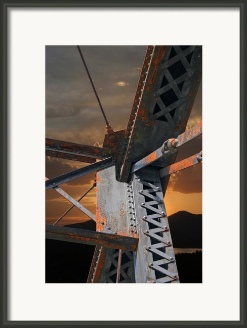 Mountain Iron Framed Print By Carver Kearney
