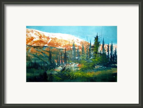 Mountain Light Framed Print By Robert Carver