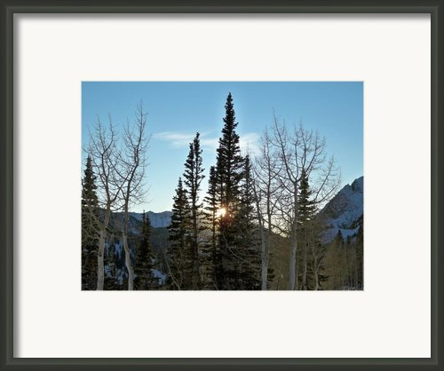 Mountain Sunset Framed Print By Michael Cuozzo