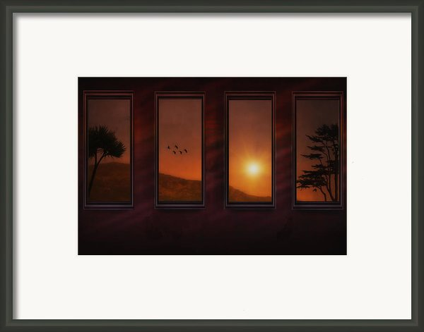 Mountain Sunset Framed Print By Tom York Images