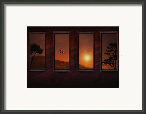 Mountain Sunset Framed Print By Tom York Images