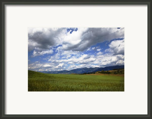 Mountainfarm Framed Print By Mark Smith