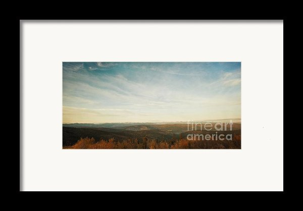 Mountains As Far As The Eye Can See Framed Print By Priska Wettstein