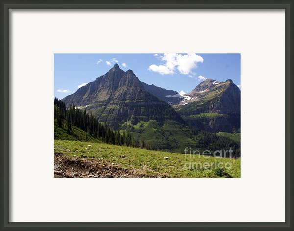 Mountains In Glacier Framed Print By Marty Koch