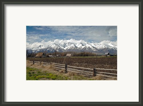 Mountains In Logan Utah Framed Print By James Steele