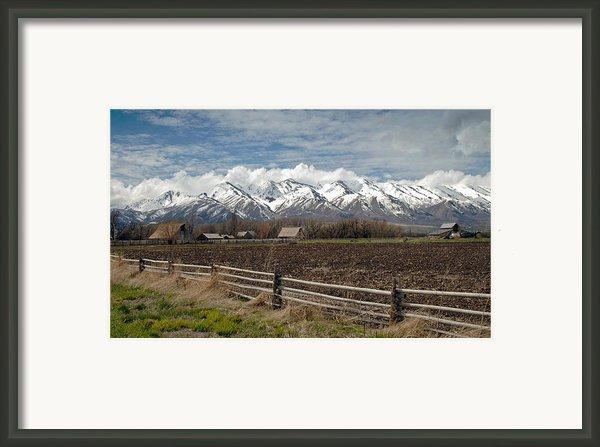 Mountains In Logan Utah Framed Print By James Steele