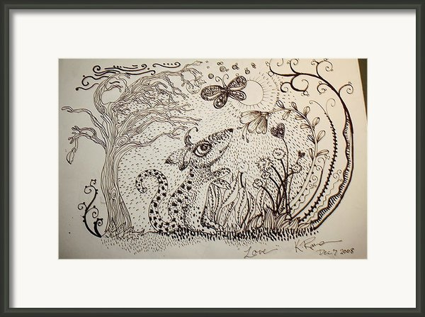 Mouse Framed Print By Kathleen Raven
