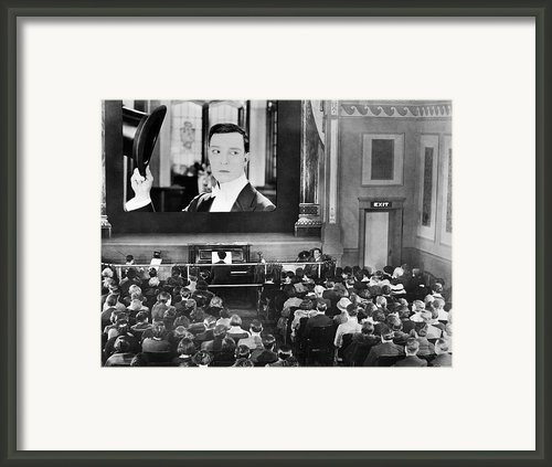 Movie Theater, 1920s Framed Print By Granger
