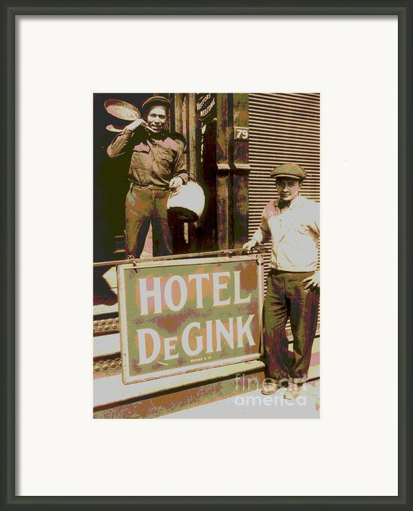 Moving Hotel Degink Framed Print By Padre Art
