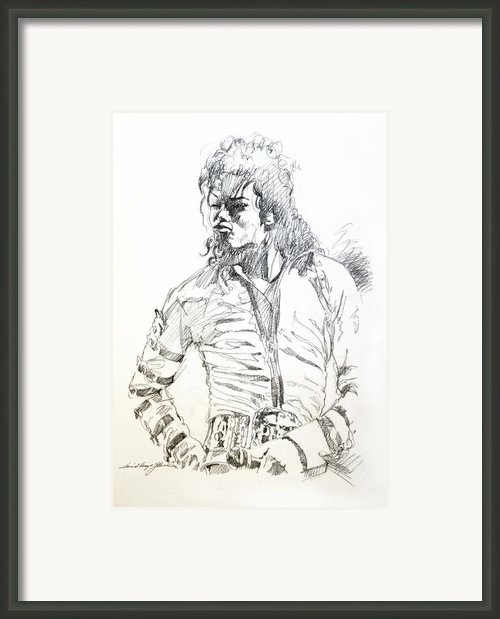 Mr. Jackson Framed Print By David Lloyd Glover