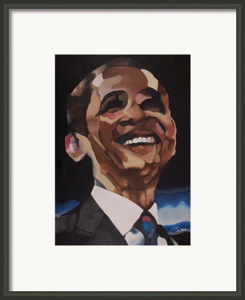 Mr. Obama Framed Print By Chelsea Vanhook