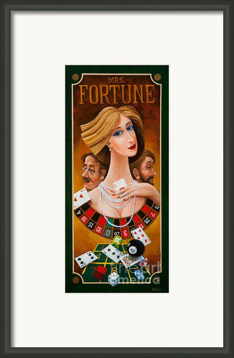 Mrs Fortune Framed Print By Igor Postash