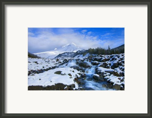 Mt. Hood Morning Framed Print By Mike  Dawson