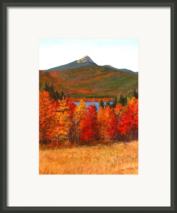 Mt.chocorua Framed Print By Jack Skinner