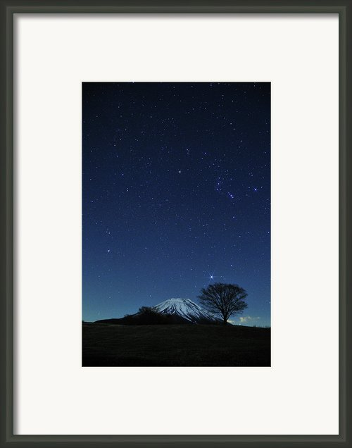 Mt.fuji In Winter Framed Print By Takeshi.k