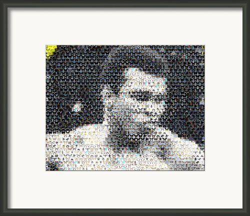 Muhammad Ali Butterfly Bee Mosaic Framed Print By Paul Van Scott