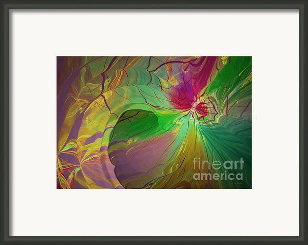 Multi Colored Rainbow Framed Print By Deborah Benoit
