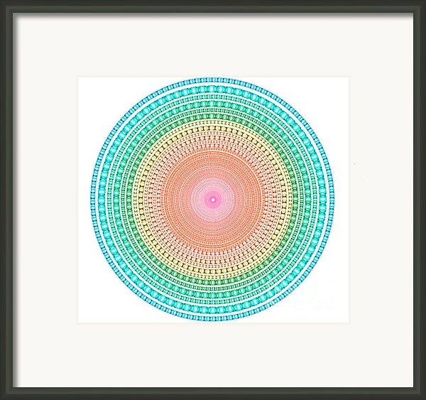 Multicolor Circle Framed Print By Atiketta Sangasaeng