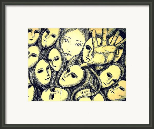 Multiple Personalities Framed Print By Paulo Zerbato