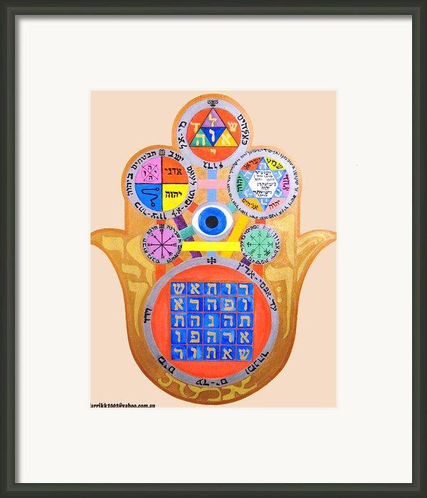 Multiple Solomaic Amulets Framed Print By Darren Stein