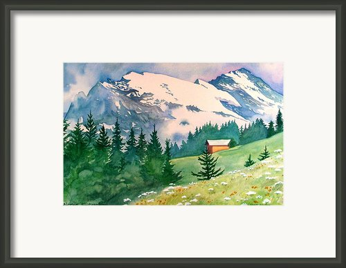 Murren Switzerland Framed Print By Scott Nelson