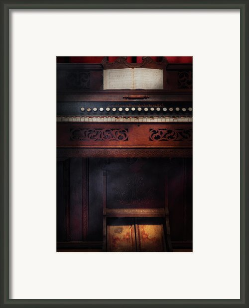 Music - Organist - Do Not Mortgage The Farm Framed Print By Mike Savad