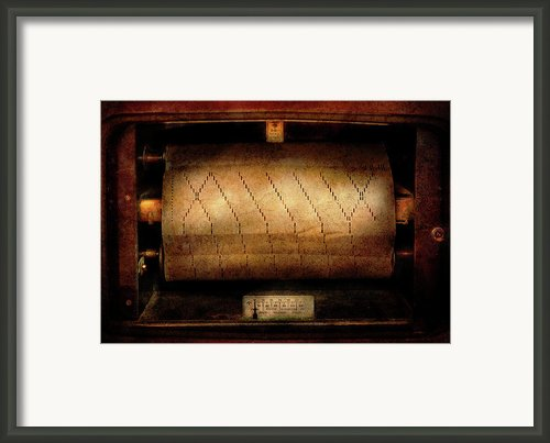 Music - Piano - Binary Code  Framed Print By Mike Savad