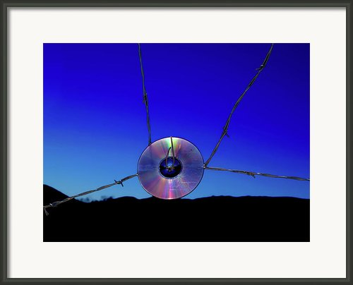 Music Of Barbed Wire Framed Print By Steven Love