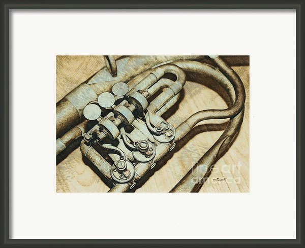 Music Of The Past Framed Print By Jutta Maria Pusl