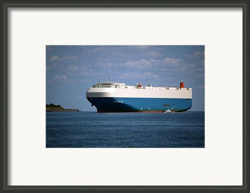 Mv Marvelous Ace Inbound Port Of Baltimore Framed Print By Wayne Higgs