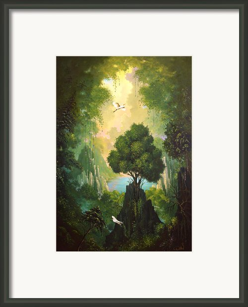 My Eden Framed Print By Hans Doller