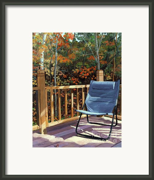 My Favorite Spot Framed Print By Lynne Reichhart