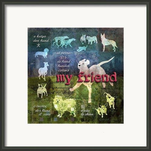 My Friend Dogs Framed Print By Evie Cook