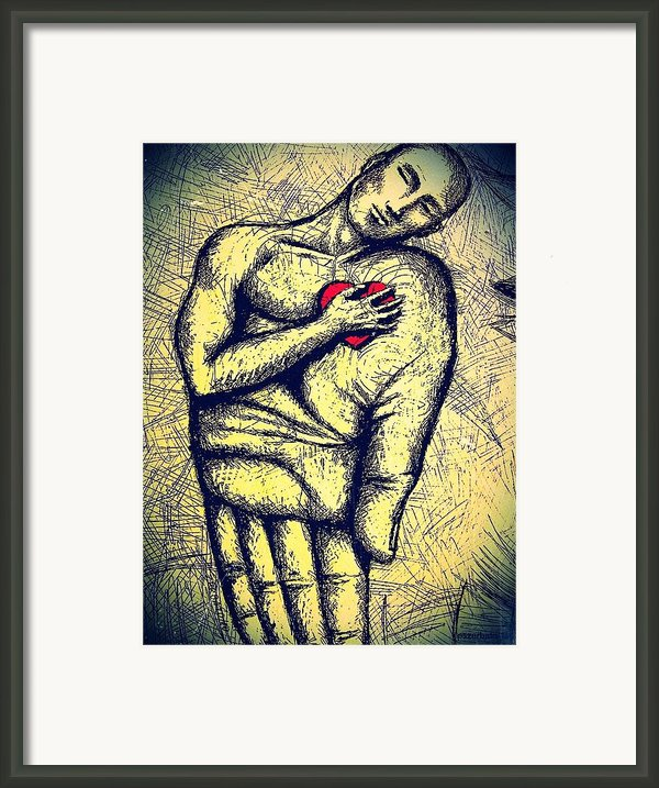 My Heart In Your Hand Framed Print By Paulo Zerbato