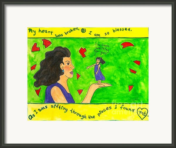 My Heart Was Broken. I Am So Blessed... Framed Print By Heart-led Woman
