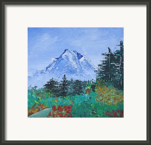 My Mountain Wonder Framed Print By Jera Sky