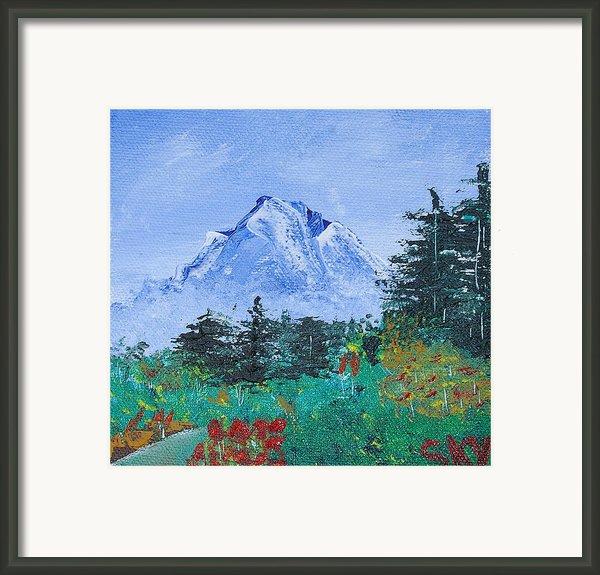 My Mountain Wonder Framed Print By Jera Sky