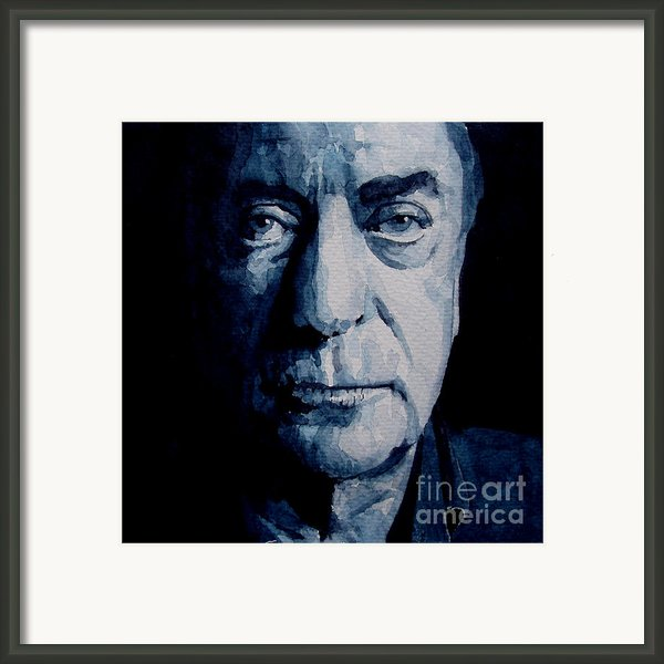 My Name Is Michael Caine Framed Print By Paul Lovering