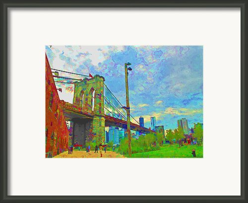 My Ny Minute Framed Print By Barbara Mcdevitt